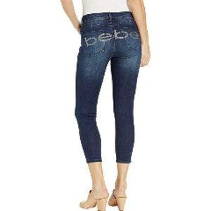 Bebe Jeans Womens Black  Heartbreaker Size 30